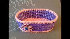 #11 Мастер-класс от А до Я Корзинка из газет DIY Newspaper Basket Weavin...