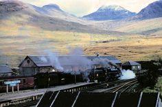 Crianlarich Railway Station, Easter 1957. pic Geoff Royle