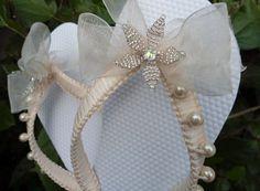 Boho wedding Ivory lace bridal flip flops bride, bridal shower gift, dancing…