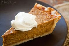 Old Fashioned Pumpkin Pie Recipe on SimplyRecipes.com