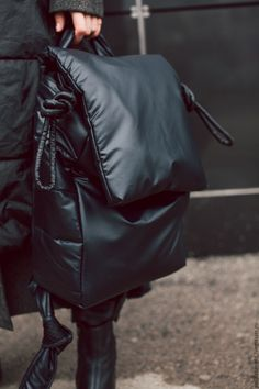 Buy or order a Quilted backpack (soft, stylish, light) in the online store at the Fair of Masters. With delivery in Russia and the CIS. Look Fashion, Fashion Bags, Fashion Ideas, Backpack Bags, Leather Backpack, Ästhetisches Design, Nylon Bag, Travel Bags, Leather Men