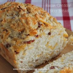 Bacon Cheddar Beer Bread-The addition of Bacon and Cheddar to this bread takes it over the top! I'm not a beer drinker at all. I never have been. Back in my younger days, when you'd go to a party, it would be all about the beer. I mean, I get it. Beer in keg form...