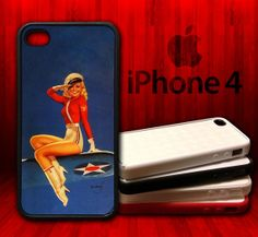Air Force Pin Up Girl   iPhone 4 and 4s Rubber by CustomizeMeAz, $18.00