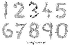 Cute printable numbers