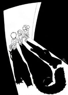 Shadows of the Future... Kankuro, Gaara and Temari #fanart (Naruto) Sand Siblings