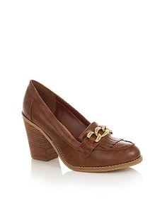 New Look Chain Block Heel Loafers