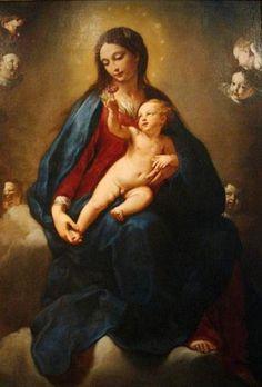 Elisabetta Sirani: Madonna de la rosa, 1661.