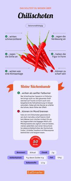 Das solltest du über Chili wissen | eatsmarter.de #chili #ernährung #infografik