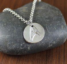 Starfleet Emblem  Artisan Handcrafted  pendant by KLFStudio