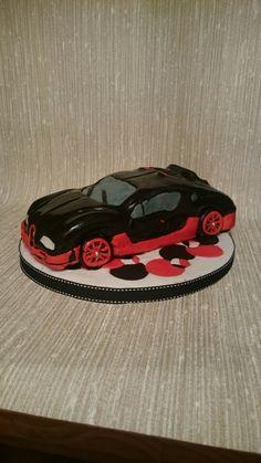 Bugatti Veyron cake i did for a friends birthday :)