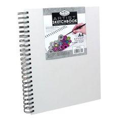 """Royal & Langnickel® Artist 8.3"""" x 11.7"""" Canvas Cover Wirebound Artist Sketchbook"""