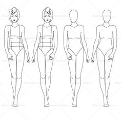 {Illustrator Stuff} Women's Fashion Croquis Template