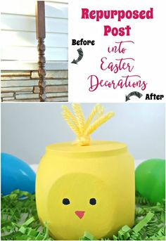 Another repurposing project using the post blocks taken from our home remodel. These bunnies and chicks were so fun and easy to make.