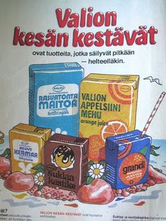 Valion lehtimainos 70-luvulta. Old Commercials, Good Old Times, Snack Recipes, Snacks, Old Dolls, Old Ads, Pop Tarts, Finland, Childhood Memories