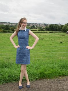 Lauren's sashiko Francoise dress - sewing pattern from Tilly and the Buttons
