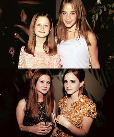 Oh how they've grown, and have gotten so gorgeous. #BonnieWright #EmmaWatson