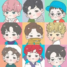 Exo fanart lucky one❤ Kpop Exo, Chanyeol, Kyungsoo, Exo Lucky One, Exo Stickers, Exo Anime, Exo Fan Art, Exo Lockscreen, Cute Emoji