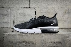 the latest 50498 f15cd 2018 Shop New Nike Air Max Sequent 3 Black Noir White blanc Dark Grey  921694-