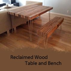 Reclaimed Wood Floors Recycling Ideas for Natural Home Interior Decor Reclaimed Wood Table Top, Reclaimed Wood Floors, Reclaimed Wood Projects, Reclaimed Wood Furniture, Barn Wood, Diy Furniture, Furniture Design, Salvaged Wood, Wood Tables