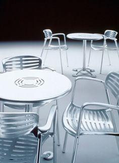 Fauteuil de restaurant aluminium Toledo - Sledge Restaurants, Design Process, Furniture, Home Decor, Diners, Homemade Home Decor, Home Furnishings, Engineering Design Process, Decoration Home