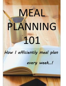 Check out how I go about meal planning! #food #planning #cooking