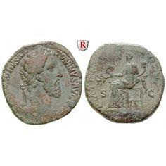 Römische Kaiserzeit, Commodus, Sesterz 183-184, ss: Commodus 177-192. Messing-Sesterz 30,7 mm 183-184 Rom. Kopf r. mit Lorbeerkranz… #coins