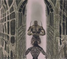 freehand airbrush painting inspired by Giger