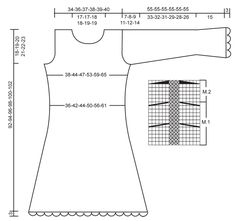 Knitted DROPS dress in Alpaca and Kid-Silk with crochet borders in Cotton Viscose. Size XS to XXL