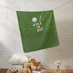 Golf hole in one with golf ball and tee on green baby blanket how to golf, golf outfit ladies, ladies golf fashion #footjoy #golflessons #taylormadegolf, back to school, aesthetic wallpaper, y2k fashion