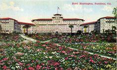 Huntington Hotel~Pasadena CA~Vintage pre-linen