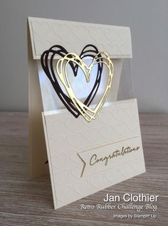 karten ideen Yow will discover nice ceremony concepts and ceremony playing cards a Love Cards, Diy Cards, Step Cards, Die Cut Cards, Acetate Cards, Wedding Congratulations Card, Wedding Cards Handmade, Handmade Engagement Cards, Karten Diy