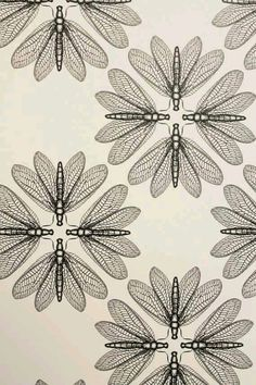 Attie likes bugs. (Lacewing insect pattern, print of original illustration) Motifs Textiles, Textile Patterns, Textile Prints, Textile Design, Lino Prints, Block Prints, Surface Pattern Design, Pattern Art, Vintage Pattern Design