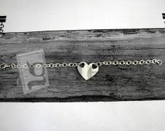 #bracciale in #argento 925 maglia rolò con #cuore centrale http://www.glesa.it/vetrine/linea_cuore_925
