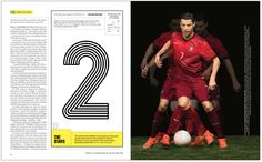 World Cup Issue. Design Director: Gail Bichler. Lead Designer: Raul Aguila. Designer: Sara Cwynar. Designer Ben Grandgenett