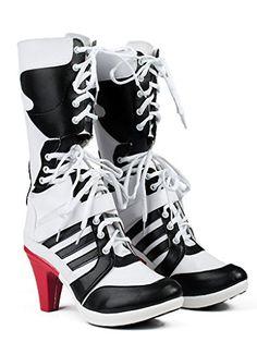 Suicide Squad Harley Quinn Stiefel Schuhe | Kostüm-Idee zu Karneval, Halloween & Fasching