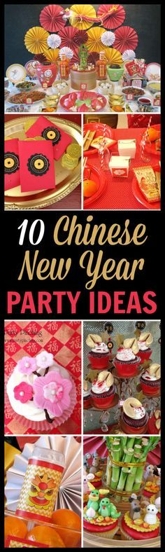 It's the Year of the Goat. Here are some great Chinese New Year party ideas including party decorations, party favors, and desserts to ready. See more party planning ideas at CatchMyParty.com.