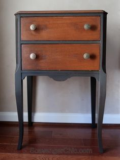 Vintage Sewing Cabinet Chalk Paint and Wax Makeover Maple Furniture, Paint Furniture, Furniture Projects, Furniture Makeover, Side Table Makeover, Sewing Room Storage, Apartment Furniture, House Furniture, Office Furniture