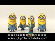 Minions Banana and Potato Song with Subtitled Lyrics - Despicable Me 2 #potatoooo
