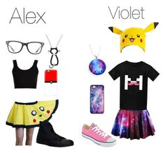 """""""Alex & Violet (Pokemon Go)"""" by geekywriterchick ❤ liked on Polyvore featuring Bioworld, Converse, Bling Jewelry, Ray-Ban, Calvin Klein Collection, Casetify and BlissfulCASE"""