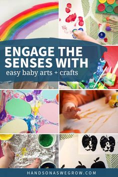10 super simple and easy sensory art projects for babies using edible paints! Get messy and make memories without having to stress about taste tests using supplies you already have.