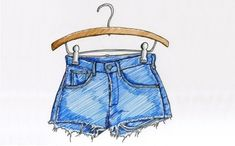 Shorts que encontrei no google para me auxiliar ao desenhar.