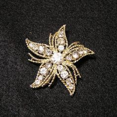 Vintage 1970s Star Fish Brooch Pin with by VictorianWardrobe