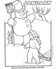 winter coloring page january coloring page