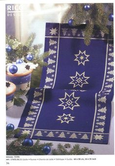 Cross Stitch Stocking, Xmas Cross Stitch, Cross Stitch Borders, Cross Stitching, Cross Stitch Magazines, Rico Design, Christmas Cross, Knitting Designs, Projects To Try
