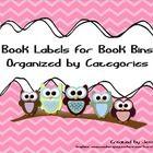 Owl Book Tub Labels