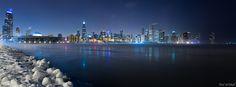 Chicago during Polar Vortex January 6, 2013
