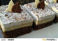 Řezy s kávovou chutí recept - TopRecepty.cz Nutella, Yummy Treats, Tiramisu, Sweet Tooth, Cheesecake, Deserts, Health Fitness, Food And Drink, Pudding