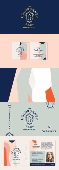 The Goldrunner Identity by Meg Lewis (Meg Lewis) with Ghostly Ferns (Ghostly Fer… – corporate branding identity Brand Identity Design, Graphic Design Branding, Stationery Design, Typography Design, Brochure Design, Fashion Logo Design, Web Design, Fashion Branding, Layout Design
