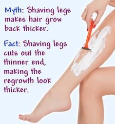 Nice tip on the shaving of hair and regrowth. #beautytips #healthtips