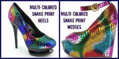 Multi-Colored Snake Print